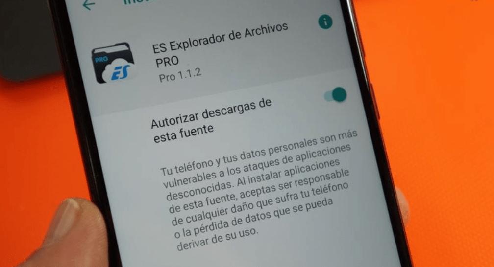 instalar aplicaciones fuentes desconocidas android